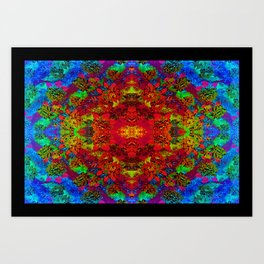 Psychedelic Flower Art Print