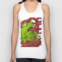 insects Tank Tops featuring Frogs eat Insects by ElenaTerrin