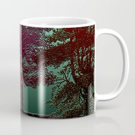 Deep Into The Forest - Trees Design Coffee Mug