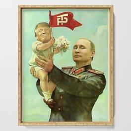 Baby Trump And Vladimir Putin Meme Serving Tray