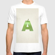 A.  White Mens Fitted Tee MEDIUM