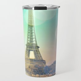 Paris. : Pastel Rainbow Bokeh Travel Mug