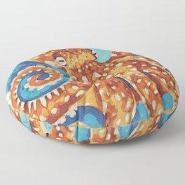 Octopus Japanese woodblock style Floor Pillow