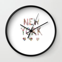 New York love Wall Clock