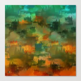 """""""Abstract forest in Autumn"""" Canvas Print"""