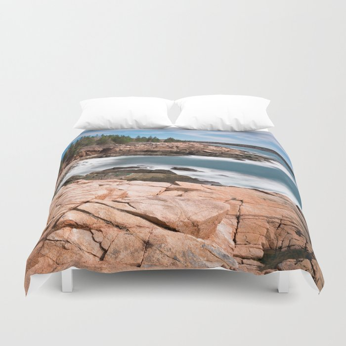 Acadia National Park - Thunder Hole Duvet Cover