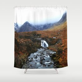 Fairy Pools of Scotland Shower Curtain