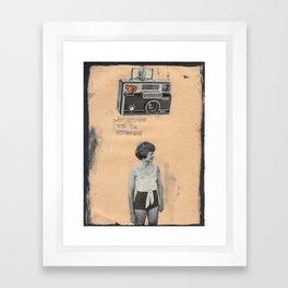Handmade collage, camera Framed Art Print