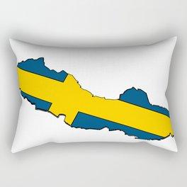 Sweden Map with Swedish Flag Rectangular Pillow