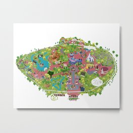 map of the happiest place on earth in CA  Metal Print