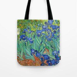 Vincent Van Gogh Irises Painting Tote Bag