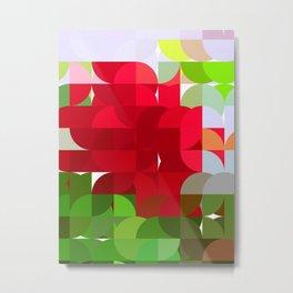 Red Rose Edges Abstract Circles 1 Metal Print