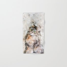 Duchess Watercolor Cat Hand & Bath Towel