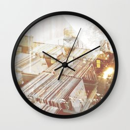 Back to the Crates Wall Clock
