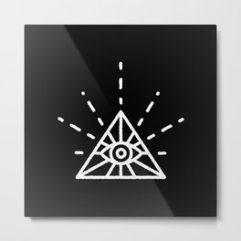 Minimal All Seeing Eye Metal Print
