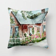 German Village House in Columbus, Ohio Throw Pillow