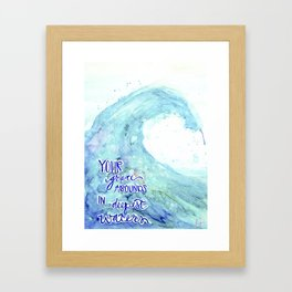 Grace Abounds In Deepest Waters Framed Art Print