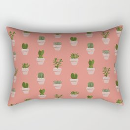 Cacti & Succulents Rectangular Pillow