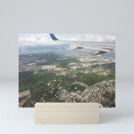 Puerto Rico birds eye view before Maria Mini Art Print