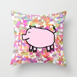 Year of the Pig 2019 - Pink Pig Throw Pillow