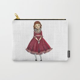 Little Girl With A Cat Carry-All Pouch