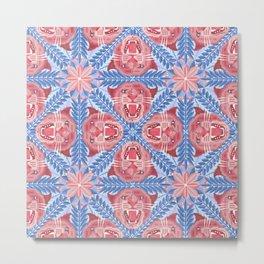 Pink Panther Pattern Metal Print