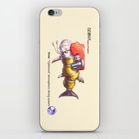 diver iPhone & iPod Skins featuring Diver by Uri Tuchman