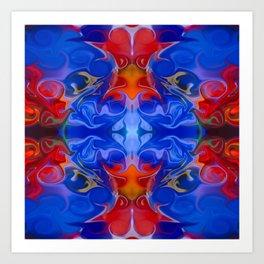 Blue Beginnings Abstract Pattern Artwork  Art Print