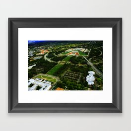 Canberra and Parliament Framed Art Print