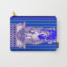 Blue Unicorn Thistle Abstract Design Carry-All Pouch