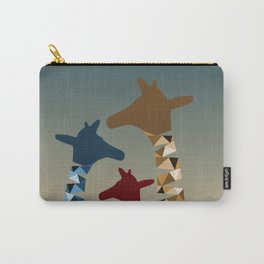 Abstract Colored Giraffe Family Carry-All Pouch