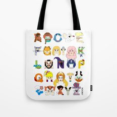 Child of the 80s Alphabet Tote Bag