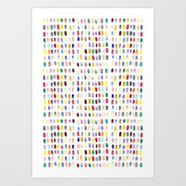 A brush of color Art Print