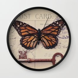 Butterfly no. 1 Wall Clock