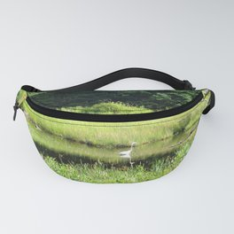 NATURE UNTOUCHED - HERON IN THE MARSH Fanny Pack