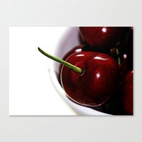 cherry Canvas Prints featuring Cherry by LoRo  Art & Pictures