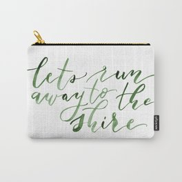 Let's run away (green) Carry-All Pouch