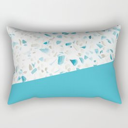 Terrazzo Texture Pacific Light Blue #5 Rectangular Pillow