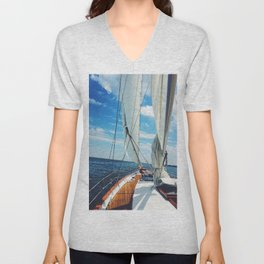Sweet Sailing - Sailboat on the Chesapeake Bay in Annapolis, Maryland Unisex V-Neck