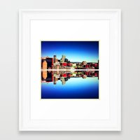 montreal Framed Art Prints featuring Montreal  by Xbird