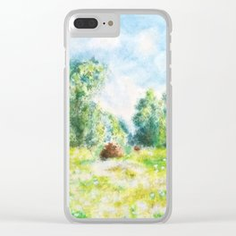 Spring in Giverny Monet Claude Clear iPhone Case