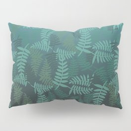 Fern leaves green turquoise pattern #society6 Pillow Sham