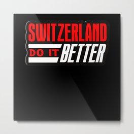 Switzerland Metal Print