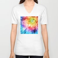 tie dye V-neck T-shirts featuring Tie Dye Watercolor by Phil Perkins
