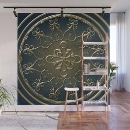 Golden Nemo Pattern Wall Mural