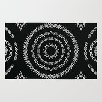 helvetica Area & Throw Rugs featuring Typographic Pattern – A (Helvetica) by janna barrett