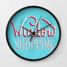 Window Shopping Wall Clock