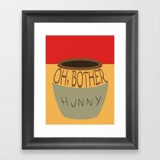 Oh, Bother Framed Art Print