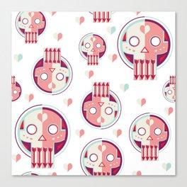 Valentines Skull Canvas Print