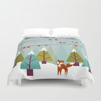 winter Duvet Covers featuring Winter  by Kakel